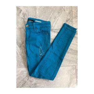 Light blue colored Lovesick Skinny Jeans